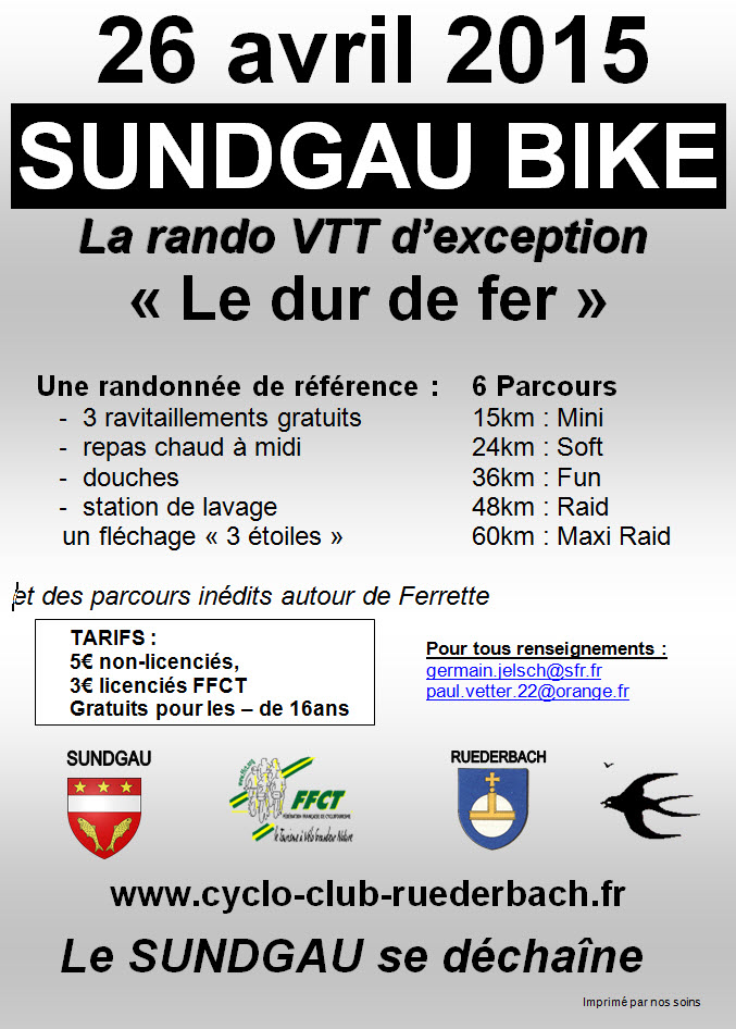 La Sundgau-Bike 2015 - La rando d'exception