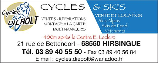Cycles Diebolt Hirsingue